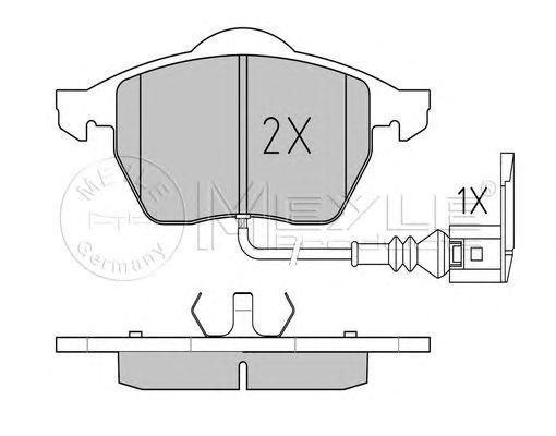 Комплект тормозных колодок, дисковый тормоз MEYLE 025 233 9219/W