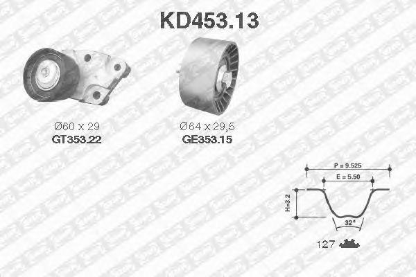 Комплект ремня ГРМ SNR KD453.13
