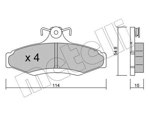 Комплект тормозных колодок, дисковый тормоз METELLI 22-0369-0