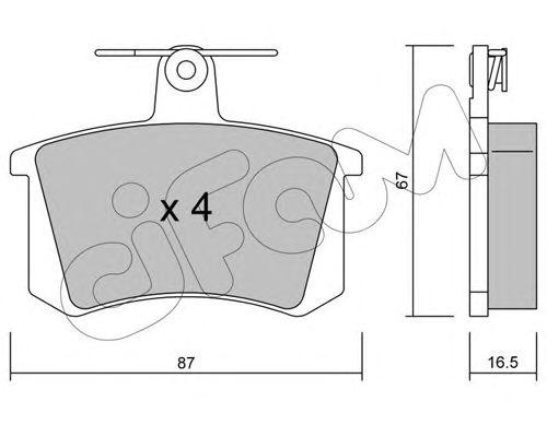 Комплект тормозных колодок, дисковый тормоз CIFAM 822-048-0