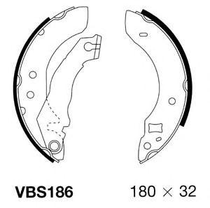 Комплект тормозных колодок MOTAQUIP VBS186