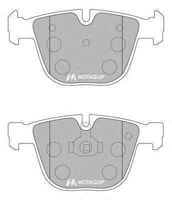 Комплект тормозных колодок, дисковый тормоз MOTAQUIP LVXL1169