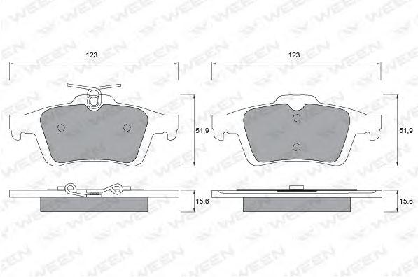 Комплект тормозных колодок, дисковый тормоз WEEN 151-1130