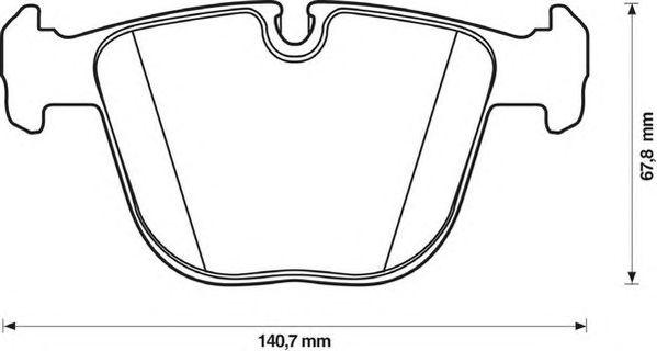 Комплект тормозных колодок, дисковый тормоз JURID 571991J-AS