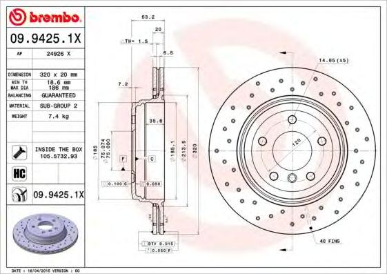Тормозной диск AP 24926 X