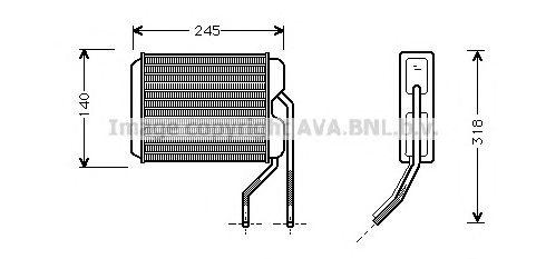 Теплообменник, отопление салона AVA QUALITY COOLING DW6026