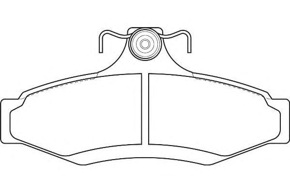 Комплект тормозных колодок, дисковый тормоз WAGNER WBP23237A