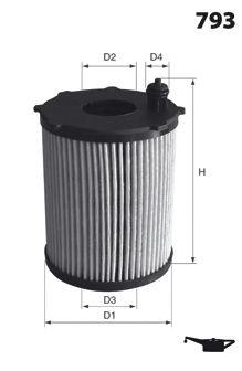 Масляный фильтр MECAFILTER ELH4425