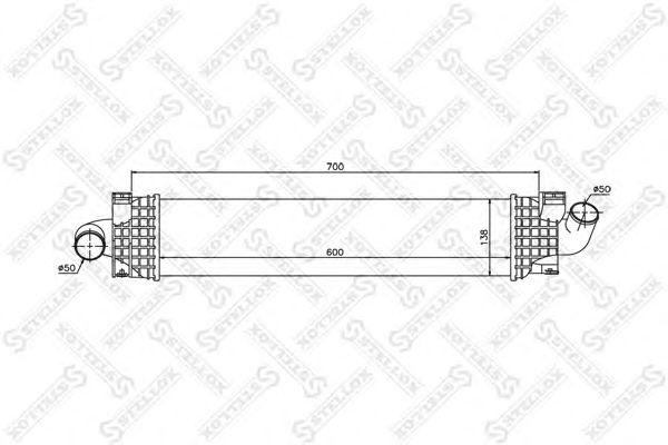 Интеркулер STELLOX 10-40087-SX