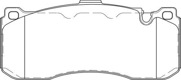 Комплект тормозных колодок, дисковый тормоз NECTO FD7421A