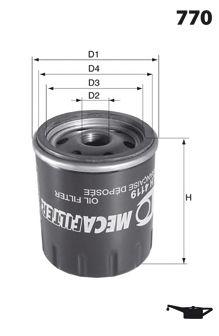Масляный фильтр LUCAS FILTERS LFOS110