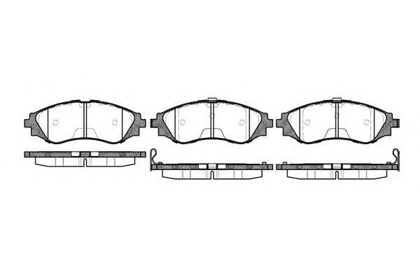 Комплект тормозных колодок, дисковый тормоз KAWE 0645 12