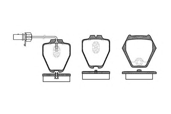 Комплект тормозных колодок, дисковый тормоз KAWE 0752 02