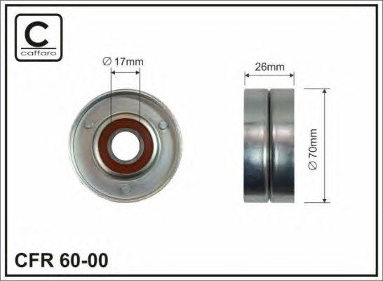 Натяжной ролик, поликлиновой  ремень CAFFARO 60-00