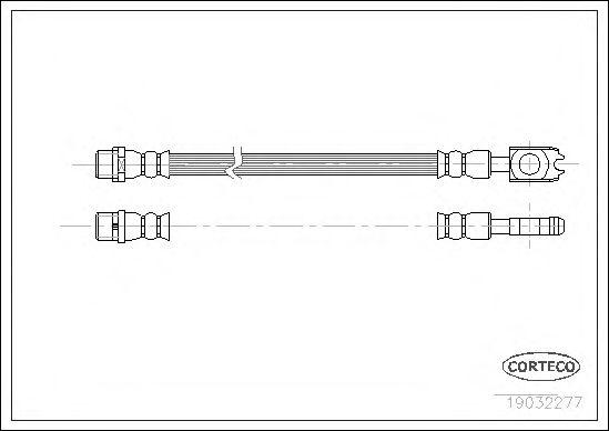 Тормозной шланг CORTECO 19032277