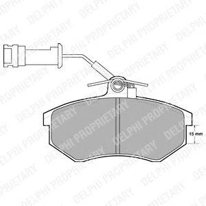 Комплект тормозных колодок, дисковый тормоз DELPHI LP444
