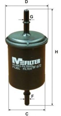 Топливный фильтр MFILTER BF 672