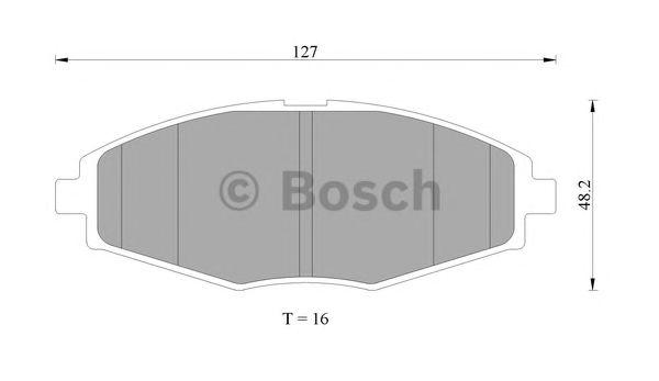 Комплект тормозных колодок, дисковый тормоз BOSCH 0 986 505 680