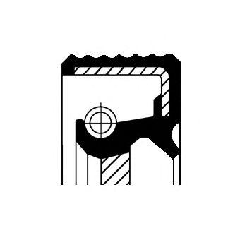 Уплотняющее кольцо, коленчатый вал CORTECO 20034737B