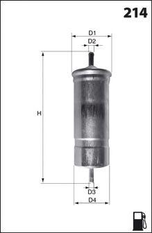 Топливный фильтр LUCAS FILTERS LFPF013