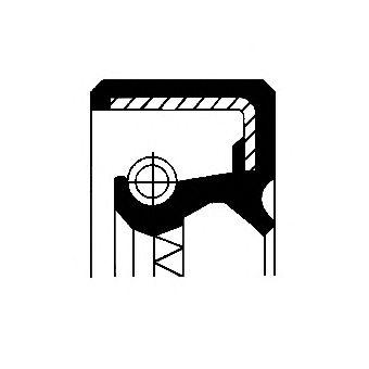 Уплотняющее кольцо, ступица колеса CORTECO 12011175B