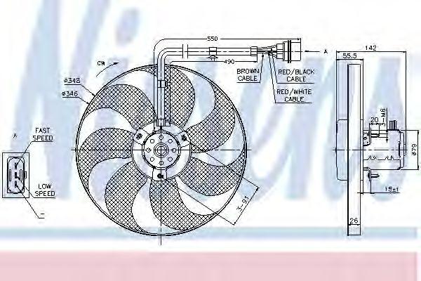 Вентилятор, охлаждение двигателя NISSENS 85683