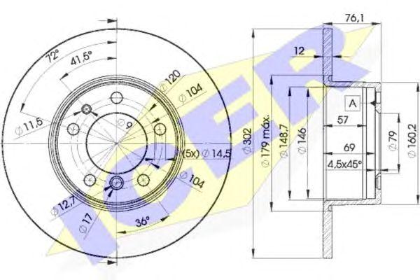 Тормозной диск ICER 78BD8042-1