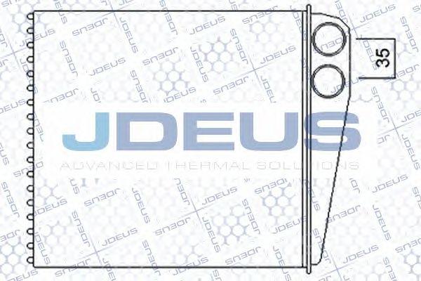 Теплообменник, отопление салона JDEUS 201M03A