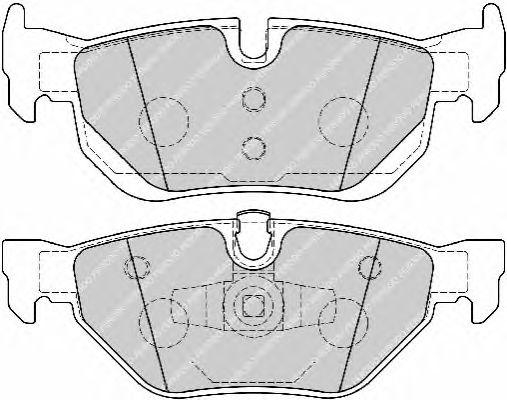 Комплект тормозных колодок, дисковый тормоз FERODO FDB1807