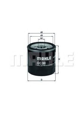 Масляный фильтр MAHLE ORIGINAL OC 90 OF