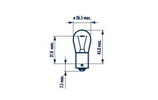 Лампа накаливания, фонарь указателя поворота; Лампа накаливания, фонарь указателя поворота NARVA 17638