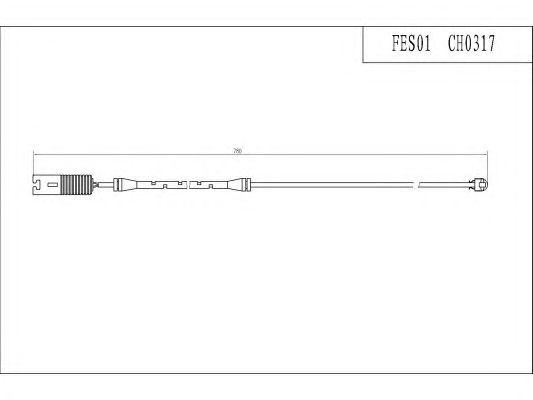 Сигнализатор, износ тормозных колодок FI.BA FES01