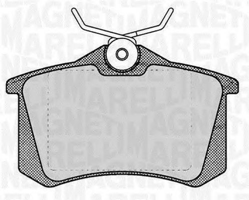 Комплект тормозных колодок, дисковый тормоз MAGNETI MARELLI 363916060131