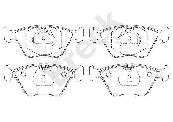 Комплект тормозных колодок, дисковый тормоз BRECK 20968 10 701 00