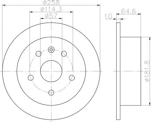 Тормозной диск HELLA PAGID 8DD 355 110-681